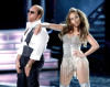 Jennifer Lopez performs on stage with Tom Cruise during the 2010 MTV Movie Awards held at the Gibson Amphitheatre on June 6th 2010 at Universal Studios in California 1