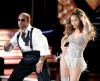 Jennifer Lopez performs on stage with Tom Cruise during the 2010 MTV Movie Awards held at the Gibson Amphitheatre on June 6th 2010 at Universal Studios in California 6
