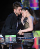 Robert Pattinson and Kristen Stewart on stage during the 2010 MTV Movie Awards held at the Gibson Amphitheatre on June 6th 2010 at Universal Studios in California 8