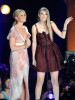 Faith Hill and Taylor Swift speak on stage at the 2010 CMT Music Awards at the Bridgestone Arena on June 9th 2010 in Nashville Tennessee 1