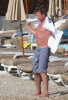 Simon Baker spotted on Jine 10th 2010 as he was swimming at the Saint Jean Cap Ferrat beach 5