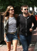 Alessandra Ambrosio seen with her boyfriend Jamie Mazur on June 9th 2010 as they have lunch with some friends at Bar Pitti and then shopping in Soho 8