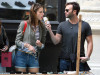 Alessandra Ambrosio seen with her boyfriend Jamie Mazur on June 9th 2010 as they have lunch with some friends at Bar Pitti and then shopping in Soho 4