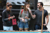 Alessandra Ambrosio seen with her boyfriend Jamie Mazur on June 9th 2010 as they have lunch with some friends at Bar Pitti and then shopping in Soho 7