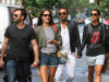Alessandra Ambrosio seen with her boyfriend Jamie Mazur on June 9th 2010 as they have lunch with some friends at Bar Pitti and then shopping in Soho 6