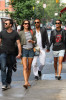 Alessandra Ambrosio seen with her boyfriend Jamie Mazur on June 9th 2010 as they have lunch with some friends at Bar Pitti and then shopping in Soho 2