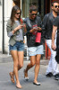 Alessandra Ambrosio seen with her boyfriend Jamie Mazur on June 9th 2010 as they have lunch with some friends at Bar Pitti and then shopping in Soho 5
