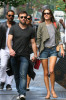 Alessandra Ambrosio seen with her boyfriend Jamie Mazur on June 9th 2010 as they have lunch with some friends at Bar Pitti and then shopping in Soho 1