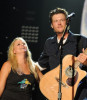 Blake Shelton and Miranda Lambert perform together during the 2010 CMA Music Festival on June 13th 2010 in Nashville Tennessee 3