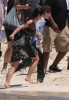 Kim Kardashian and Justin Bieber spotted at the beach together on June 13th 2010 at The Cove Resort in the Bahamas 2