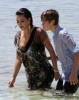 Kim Kardashian and Justin Bieber spotted at the beach together on June 13th 2010 at The Cove Resort in the Bahamas 11