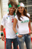 new picture of Amal Boshoshah in an algerian cheering outfit for the 2010 FIFA world cup 1
