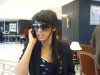 new pictures of Iraqi student Rahma Sibahi after the end of star academy 7th season while at the airport