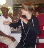 Justin Bieber picture on June 9th 2010 while dancing at the Johnny Rocket eatery in the Bahamas 2