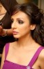 Egyptian singer Angham at the makeup room backstage of a concert 1