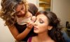 Egyptian singer Angham at the makeup room backstage of a concert 2