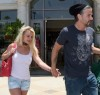 Britney Spears and her boyfriend Jason Trawick seen on June 19th 2010 in Calabasas 1