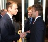 Prince William and Prince Harry seen with David Beckham on June 19th 2010 at a FIFA reception held at the Saxon Hotel in Johannesberg South Africa 2
