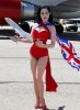 Dita Von Teese photo shoot on June 15th 2010 for Virgin Atlantic at McCarran Airport in Las Vegas 5
