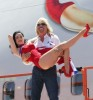 Dita Von Teese photo shoot on June 15th 2010 for Virgin Atlantic at McCarran Airport in Las Vegas 1