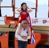 Dita Von Teese photo shoot on June 15th 2010 for Virgin Atlantic at McCarran Airport in Las Vegas 3