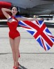 Dita Von Teese photo shoot on June 15th 2010 for Virgin Atlantic at McCarran Airport in Las Vegas 2