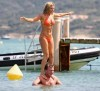 Geri Halliwell seen on June 19th 2010 wearing a stylish orange bikini suit while at the beach of St Tropez France 2