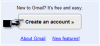 creating an email account in gmail by first clicking on the create new account button