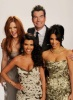 Kim Kardashian photoshoot for the 2011 Peoples Choice Awards with her sisters Khloe and Kourtney