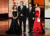 Alyson Hannigan  with Jason Segel and Josh Rando and Cobie Smulders onstage during the 61st Primetime Emmy Awards held  on September 20th 2009 at the Nokia Theatre 2