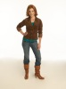 Alyson Hannigan photoshoot for  HOW I MET YOUR MOTHER TV comedy show wearing hiking boots