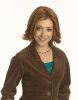 Alyson Hannigan photoshoot for  HOW I MET YOUR MOTHER TV comedy show in a brown jacket