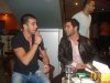 Mohd Rafe3 from Jordan picture while singing before star academy together with his friend Mohammed al qaq