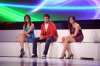 the 2nd prime of star academy season8 on April 8th 2011 photo of the three nominees Mohamad Alqaq and Lian Bazlamit and Karima Gouit