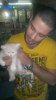 photo of Houssam Taha from Syria before star academy with his kitten