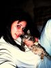 photo of Layan Al Bazlamit before star academy with her cat