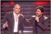 star academy fourth prime on April 22nd 2011 picture of Lebanese singer Melhem Zein together with Syrian student Mohd Dakdook