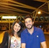 Asmaa Mahalaoui with Mahmoud Shokry at the airport