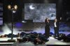 picture from the Star Academy 9th Prime on May 27th 2011 of Gilbert and Nesma in a tableau on stage