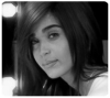 black and white icon image of star academy student Karima Gaiut