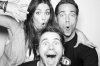 Taylor Cole with Jason Ritter on July 24th 2010 at the NERD Party Comic Con Paddle Jam Photobooth 1