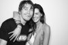 Taylor Cole with Jason Ritter on July 24th 2010 at the NERD Party Comic Con Paddle Jam Photobooth 3