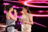 StarAcademy8 prime on June 3rd 2011 picture of Egytpian singer angham together with Lian Bazlamit on stage