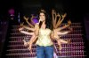 the 12th prime of star academy8 on June 17th 2011 photo of syrian singer Rowaida Attieh singing on stage with the dancers