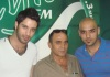 new photo of efrem salameh at rotana style radio station for an interview live with hossam taha