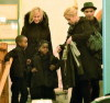 Madonna spotted with Brahim Zaibat as she attends the vigil service of her grandmother funeral on March 11th 2011 at Gephart Funeral Home 2