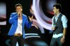 The 14th prime of staracademy8 on July 1st 2011 picture of singer Fadi Andrawos with Ahmed Ezzat from Egypt