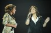 The 14th prime of staracademy8 on July 1st 2011 picture of singer Sherine AbdelWahab with student Nesma Mahgoub