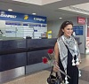 Layan Bazlamit picture in Beirut airport on July 3rd 2011 to depart back to jordan after she left staracademy 6