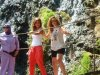 Newset photo of Nina Abdl Malak wearing red pants and a white top in June 2011 at a city in Lebanon after leaving star academy 2